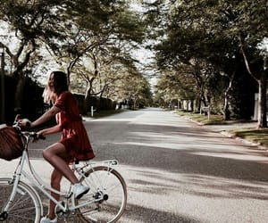 girl, bike, and nature image