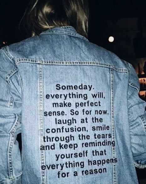 denim, jacket, and quotes image