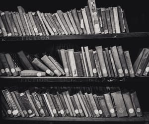 black, books, and library image