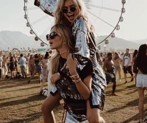 coachella, girl, and festival image