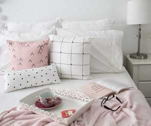 bed, inspiration, and pink image