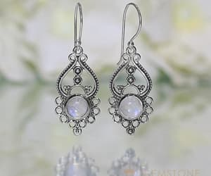 earrings, rainbow moonstone earring, and moonstone image