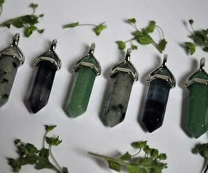 crystal, green, and witch image