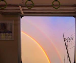 rainbow, aesthetic, and sky image