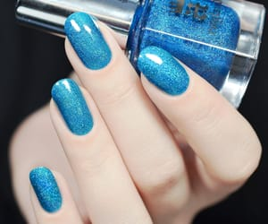 beautiful, blue, and blue nails image