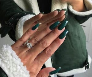 nails, green, and ring image