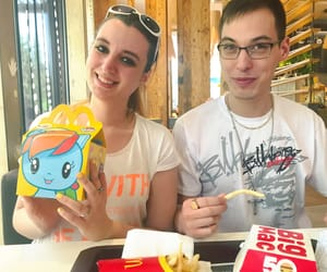 couple, McDonald's, and mlp fim image