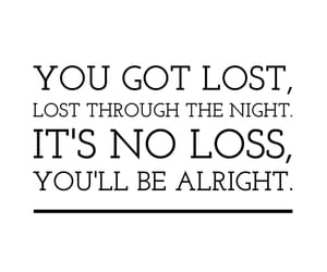 lost, Lyrics, and quote image