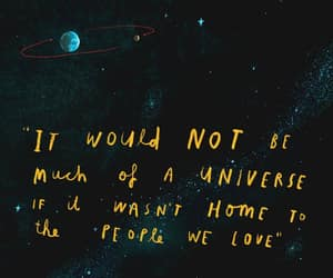 quote, home, and universe image
