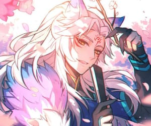 cool, long hair, and white hair image