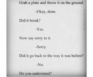 quotes, sorry, and understand image