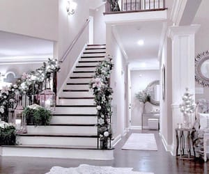 home, white, and decoration image