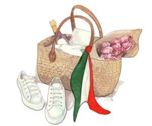 fashion illustration, fashion sketch, and italian image
