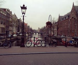 amsterdam, beautiful, and bicycle image