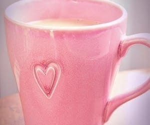 pink, coffee, and heart image