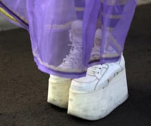 shoes, white, and purple image