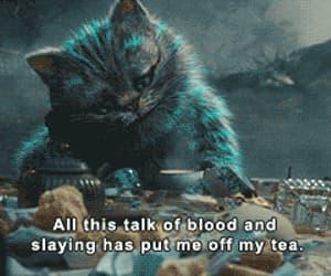 alice in wonderland and cat image