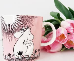 flowers, moomintroll, and tulips image