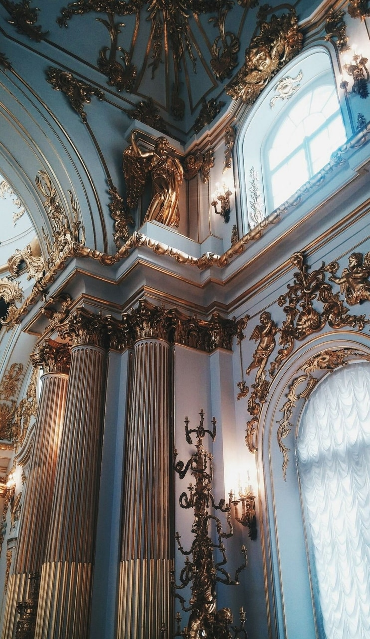 wallpaper, gold, and architecture image