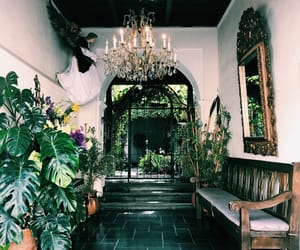 chandelier, guatemala, and interiors image