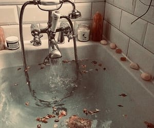 bath, flowers, and aesthetic image
