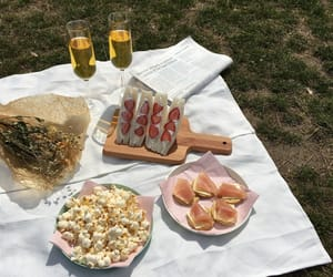 flower, food, and picnic image