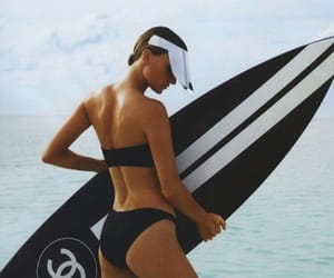 beach, surfboard, and chanel image