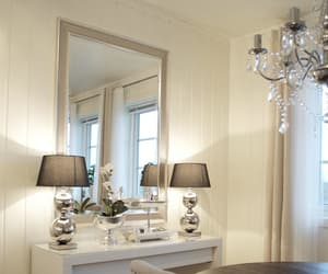 chandelier, design, and mirror image