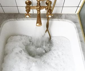 bath, gold, and interior image