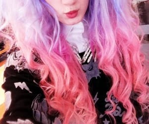 pastel goth, hair, and pink image