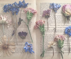 flowers, book, and pastel image