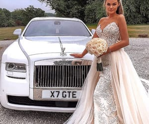 beauty, bride, and car image