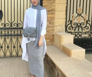 fashion, heels, and hijab image
