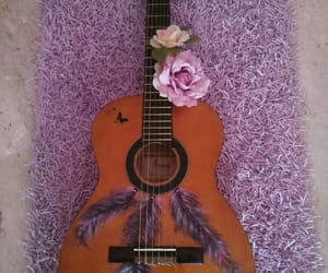chitarra, flowers, and guitar image