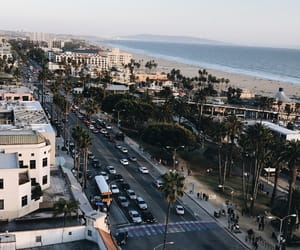 city, beach, and california image