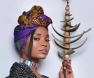 beautiful, black, and headwraps image