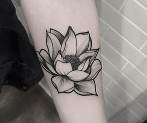 tattoo, flower, and ink image
