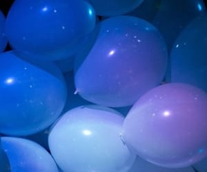 balloons, blue, and purple image