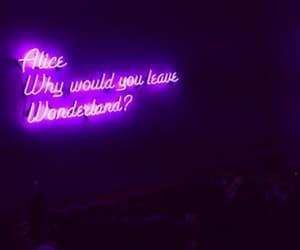 alice, purple, and wonderland image