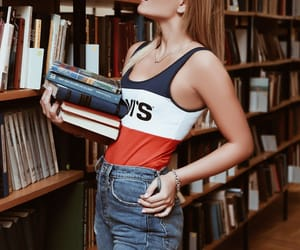 books, fashion, and girl image