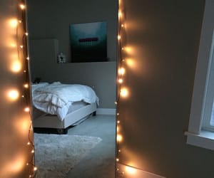 room, lights, and bedroom image