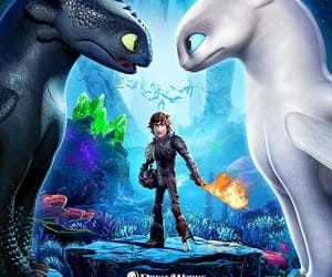 dragon, hiccup, and toothless image