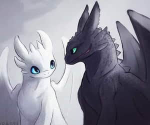 hiccup, dragón, and chimuelo image