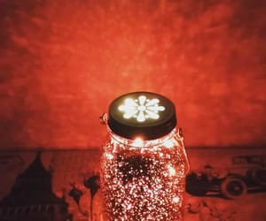 lamp, lights, and red image