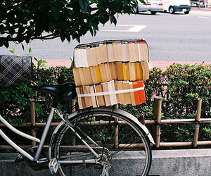 book, bicycle, and photography image