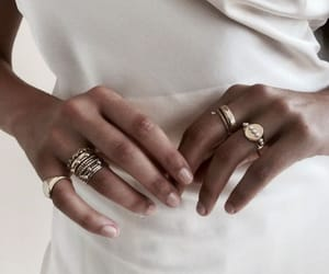 white, rings, and accessories image