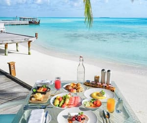 food, beach, and paradise image