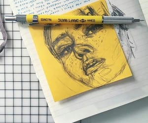 yellow, art, and drawing image