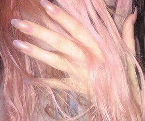 aesthetic, pink, and nails image
