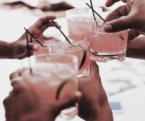 drink, friends, and pink image
